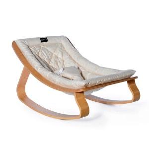 Transat LEVO en hêtre avec assise White CHARLIE CRANE