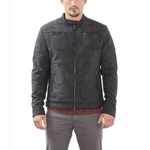 Suede-Look Biker-Style Bomber Jacket ESPRIT