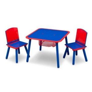 DELTA La table (avec support) et 2 chaises meubles enfant DELTA