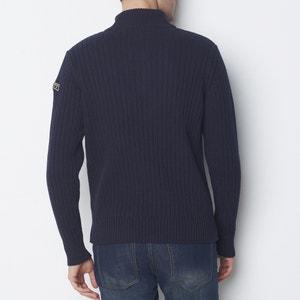 High Neck, Chunky Knit Jumper/Sweater SCHOTT