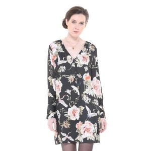 Krótka sukienka z kwiecistym nadrukiem, rozszerzana, rozkloszowana CHARLISE