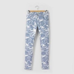 Bedrukte skinny jeans R pop