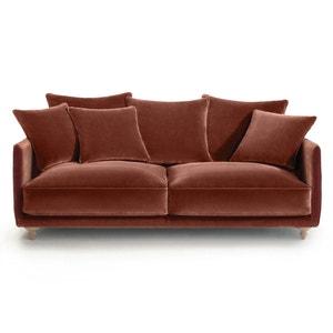 Canapé compact 3 pl conv. Lazare, velours pieds clairs AM.PM.