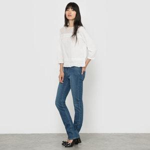 Straight Cut Denim Jeans, Length 32