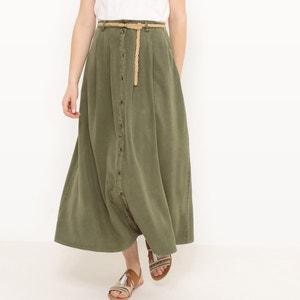 Falda larga abotonada, tencel VERO MODA
