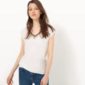 Tee-shirt avec détails franges, manches courtes LPB WOMAN