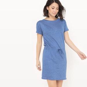 Vestido de manga corta, lino R essentiel