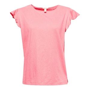 T-shirt col rond, manches courtes ESPRIT