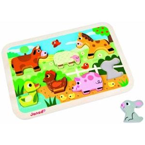 Chunky Puzzle Ferme 7 pcs (bois) - JURJ07055 JANOD