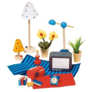 Maison de poupées : Accessoires séjour et chambre à coucher GOKI