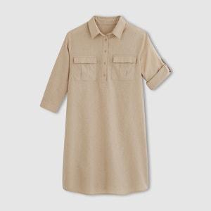 Vestido estilo safari, linho/algodão R essentiel