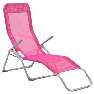 Transat / Chaise longue Siesta - Rouge framboise COTE DETENTE