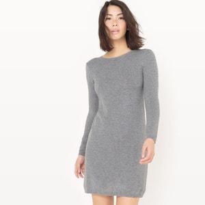 Vestido em malha tricot com laço atrás MADEMOISELLE R
