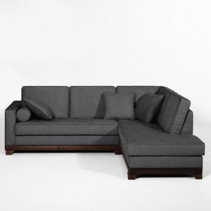 Hoekcanapé, vast, superieur comfort, microvezel, Edwin La Redoute Interieurs