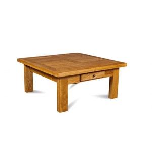 Table basse carrée La BRESSE - bois chêne clair massif HELLIN, DEPUIS 1862