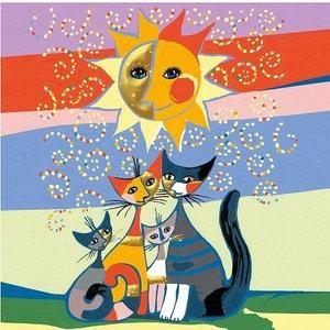Peinture au numéro Déco Rosina Wachtmeister : Les chats Version allemande RAVENSBURGER