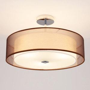 Plafonnier LED Pikka avec abat-jour brun LAMPENWELT