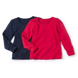 Комплект из 2 футболок с длинными рукавами, 3-12 лет La Redoute Collections
