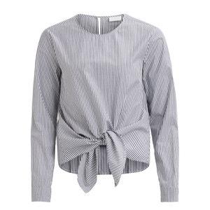 Gestreepte blouse met ronde hals en lange mouwen VILA