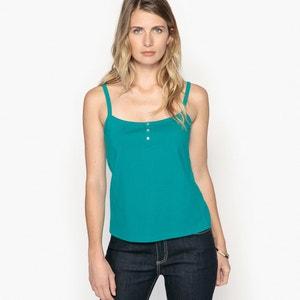 T-shirt top uni à fines bretelles ANNE WEYBURN