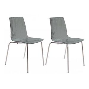 Chaise en paille grise la redoute for Soldes chaises transparentes