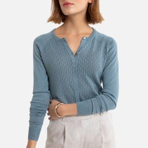 Gebreid vest in fijn tricot