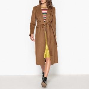 Wool Blend Pavone Long Coat LA BRAND BOUTIQUE COLLECTION