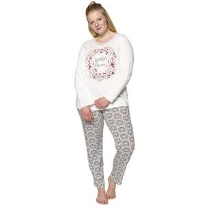 Dwuczęściowa piżama z zimowym wzorem i długim rękawem ULLA POPKEN