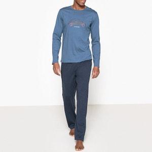 Pyjama long, impression poitrine La Redoute Collections