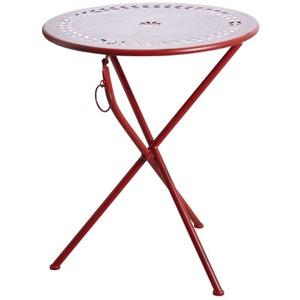 Table de terrasse pliante ronde AUBRY GASPARD