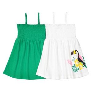 Confezione da 2 abiti senza maniche Oeko Tex 1 mese - 3 anni La Redoute Collections