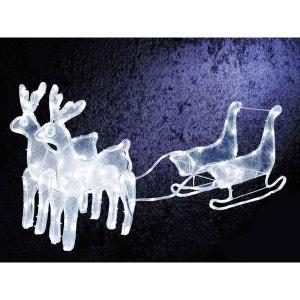 Décoration de Noël - Traineau + 2 rennes LED JARDIDECO