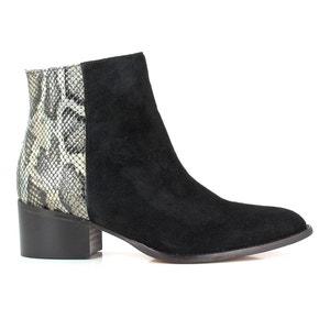 Boots en cuir bi matière HAVYS ELIZABETH STUART