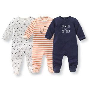 Pyjama coton imprimé 0 mois-3 ans (lot de 3) R Edition
