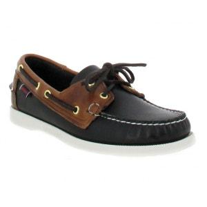 Chaussures bateaux homme SEBAGO Docksides Spinnaker Cuir  Homme Noir + Marron SEBAGO