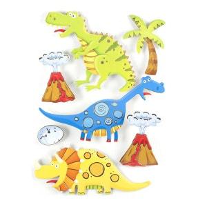 Sticker 3D Rêve - 30 x 40 cm - Dinosaure ATMOSPHERA