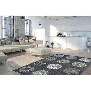Tapis design anthracite pour salon Dario DELADECO