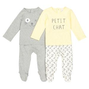 Pyjama 2 pièces, lot de 2, 0 mois - 3 ans La Redoute Collections