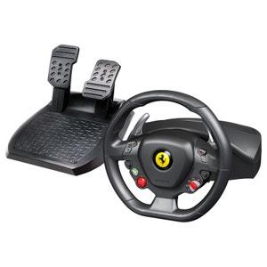 Ensemble de pilotage avec volant et pédalier Thrustmaster Ferrari 458 Italia (compatible PC et Xbox 360) THRUSMASTER