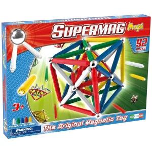 Jeu de construction magnétique : Supermag 92 pièces MGM