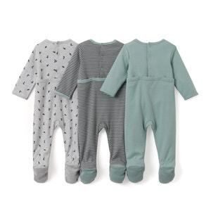 Lot de 3 pyjamas imprimés en coton- Oeko Tex La Redoute Collections