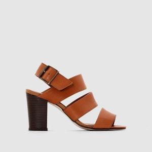 PASTELLE GAELLE Multi-Strap Leather Sandals PASTELLE