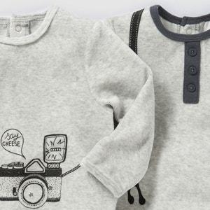 Pijama de terciopelo (lote de 2) 0 meses-3 años La Redoute Collections