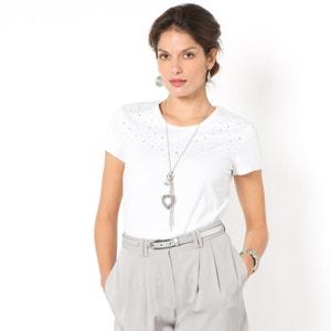 Embroidered Cotton T-shirt ANNE WEYBURN