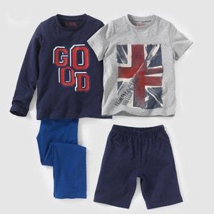 2er-Pack Pyjamas, Jersey, 2-12 Jahre R édition