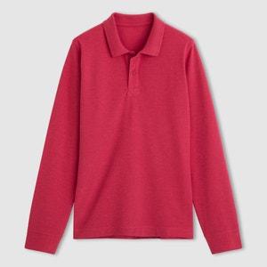 Poloshirt mit langen Ärmeln, Pikee, uni R édition