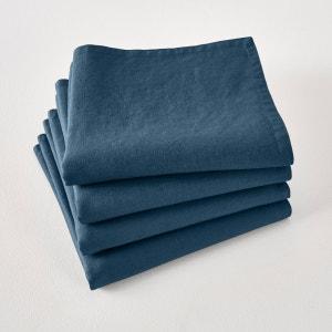 Lot de 4 serviettes de table Victorine, lin lavé La Redoute Interieurs