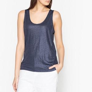 Camiseta sin mangas de lino con revestimiento MARIE SIXTINE