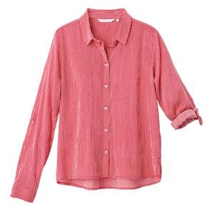 Gestreept hemd met lange mouwen in zuiver katoen TOM TAILOR