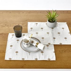 Wzorzysty zestaw stołowy (2 szt.) EVENTAIL La Redoute Interieurs